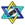 KOPJIK INTERNATIONAL YIDDISH DAILY Star of David - ½½½