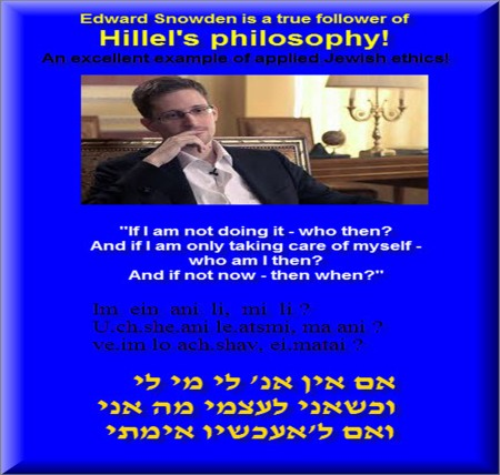 Edward Snowden is a true follower of Hilel's philosophy 5