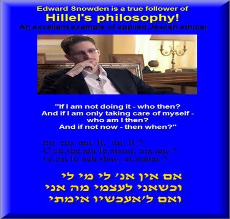 Edward Snowden is a true follower of Hilel's philosophy 5