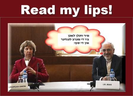EU and Iran - read my lips!