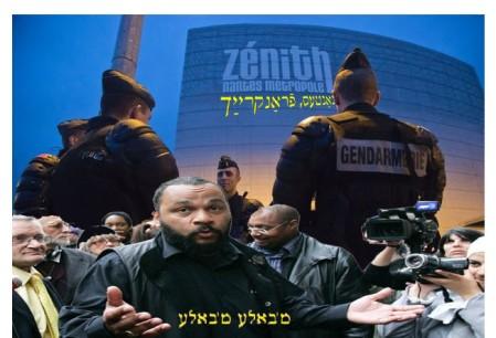 Fransk politi holder vagt foran Zenith Arena, hvor Dieudonné skulle have optrådt