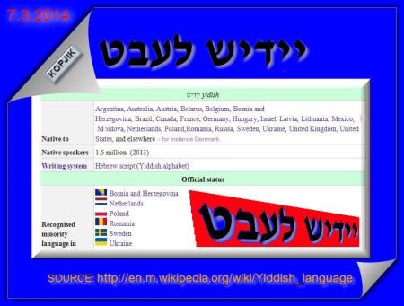 Jiddish is alive