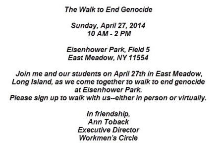 March to end genocide 270414 in New York