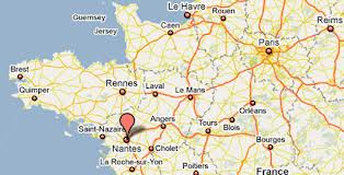 Nantes-kort
