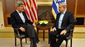 Ntanyahu meeting Kerry