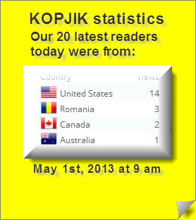 Our 20 latest readers 1.3.2013 were from