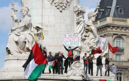 Palestinensiske demonstranter i Paris