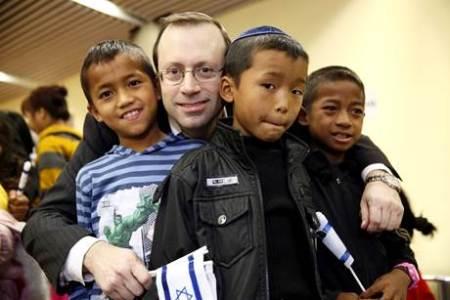 Tre børn fra Menasseh-stammen