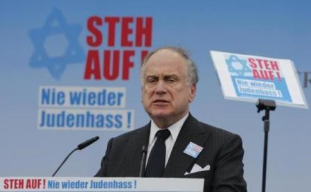 World Jewish Congress President Lauder addresses anti-Semitism demo in Berlin